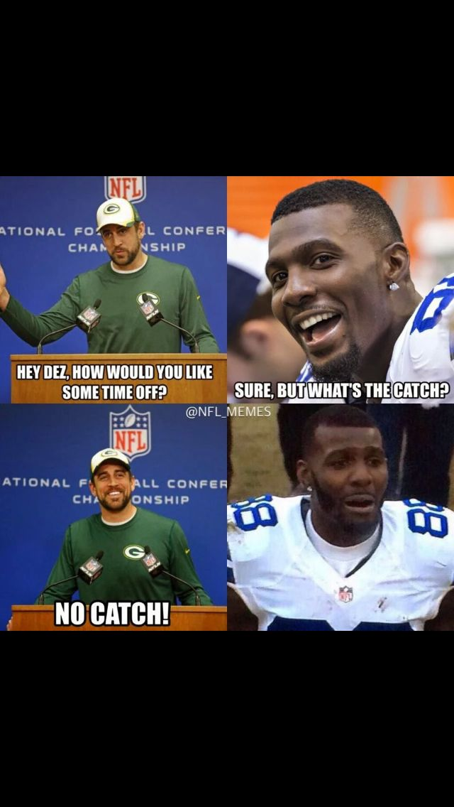 "NFL meme after the Controversial Dez Bryant ""drop"" in the NFC playoffs"