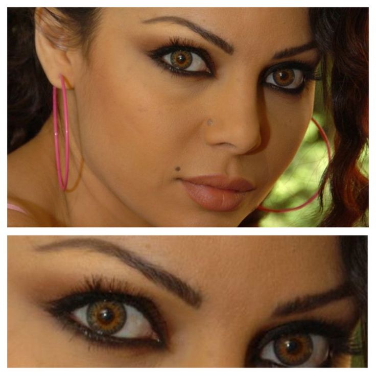 Haifa Wehbe  - contact lenses
