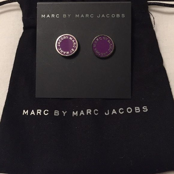 Marc By Marc Jacobs Enamel Logo Earrings Never been worn! Great Christmas gift. Check out the matching bracelet and ring. Marc by Marc Jacobs Jewelry Earrings