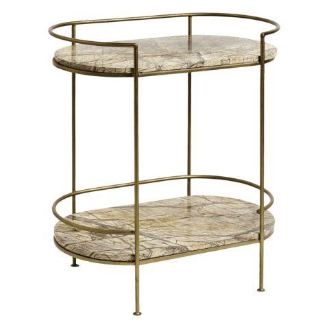 ZELDA GOLDEN MARBLE SIDE TABLE -Interior Design, London, Abigail Ahern