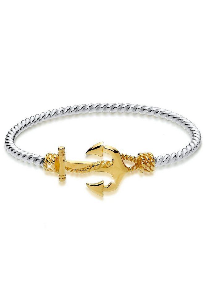 Elli Armband »Anker Bi-Color 925 Sterling Silber Marlene« für 59,90€. Elegantes Armband aus Sterling Silber, vergoldet bei OTTO