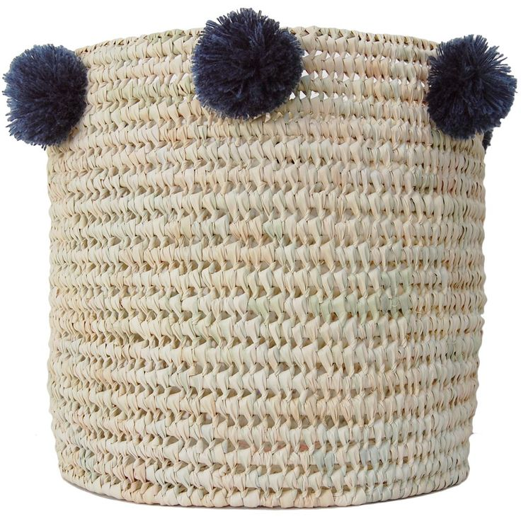 Our Riad Baskets have been handwoven from natural palm leaf, creating a sturdy shape and lattice design. Finished with autumnal pom poms, these make for stylish storage! These baskets are great to use anywhere in your home, whether in the bathroom for towels, laundry in the bedroom, plant pots or simply tidying away the kids toys! - Handwoven - Ethical/eco friendly product - Handmade Pom Poms all around the edge- Approx Sizes*Large     35 x 35 cm *Medium 25 x 25 ...