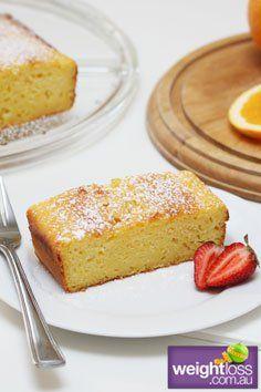 Healthy Dessert Recipes: Orange & Yoghurt Cake. #HealthyRecipes #DietRecipes #WeightLoss #WeightlossRecipes weightloss.com.au