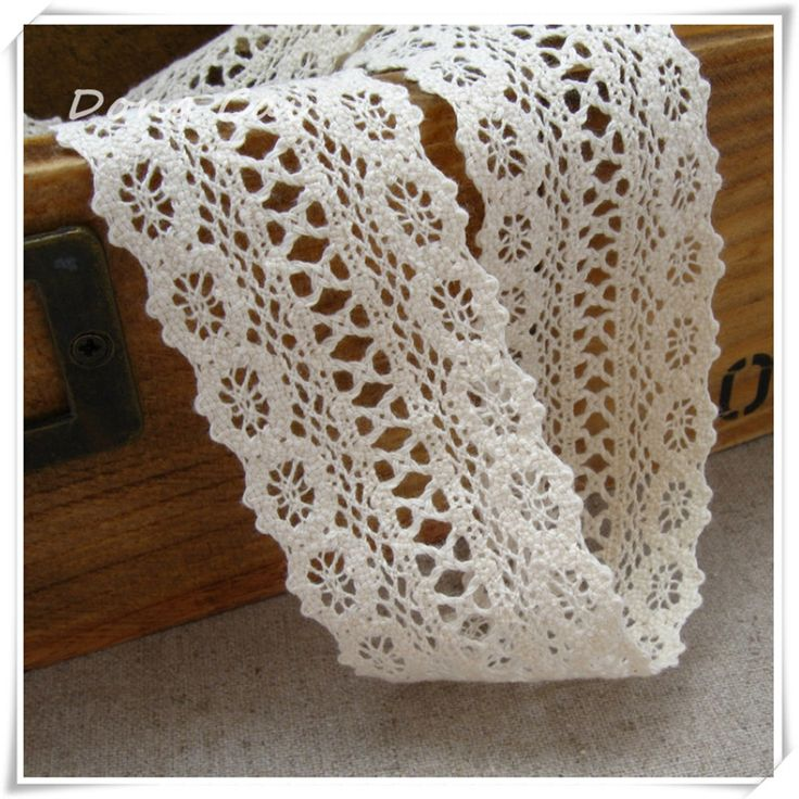 10 yards/lot 4.2cm Natural/beige Cotton Lace Handmade DIY Accessories Wholesale,  Hair accessories,  Handmade Accessories Craft