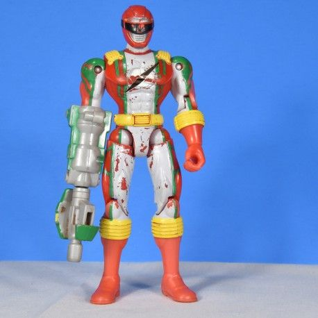 Red Ranger Power Rangers Operation Overdrive 2006 Mega Red Torque Ranger has some paint wear Approximately 5.5 inches tall