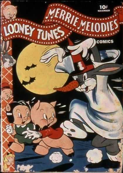Merrie Melodies - Porky Pig - Bugs Bunny - Magician - Moon