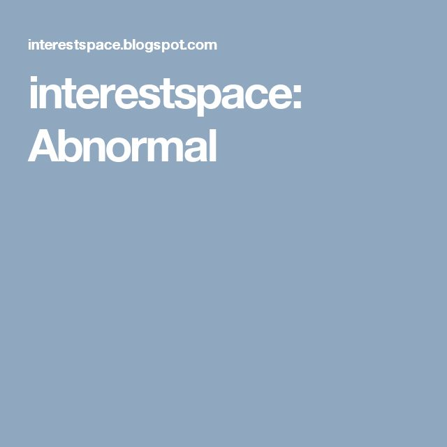 interestspace: Abnormal