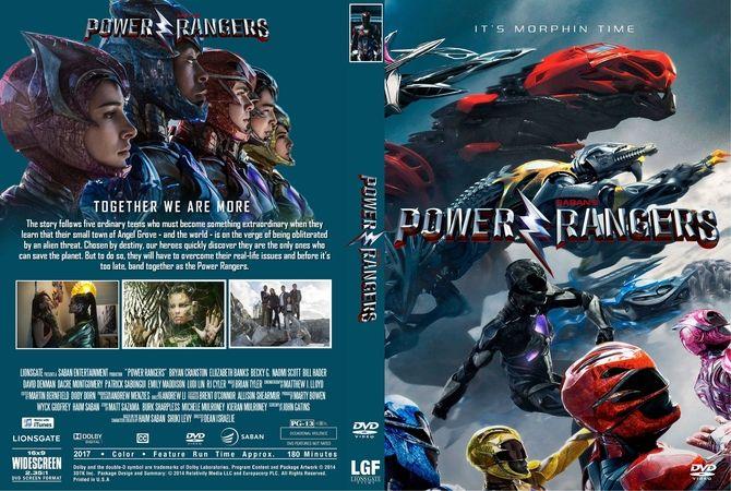 Power Rangers 2017 Dvd Custom Cover Custom Dvd Cover