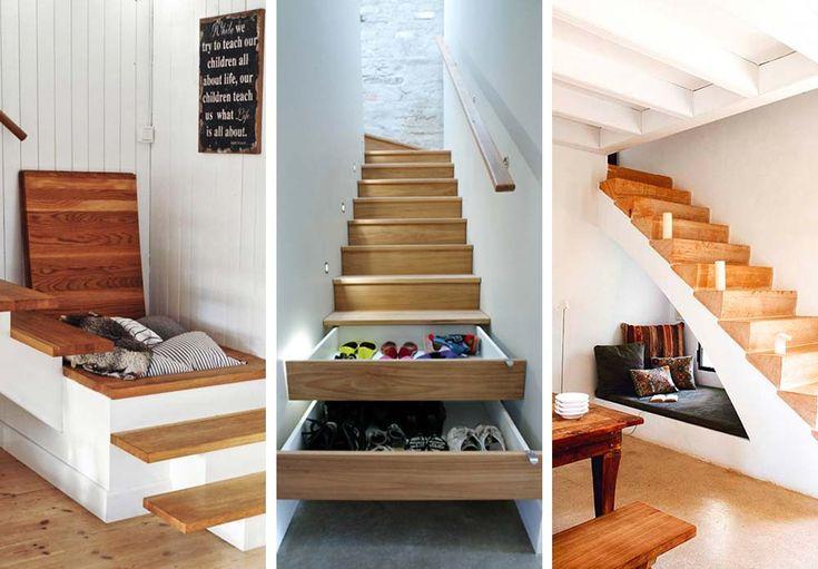 Bor du i et hus med to etasjer så har du en trapp. Her er 10 ideer til hvordan du kan utnytte plassen under trappen bedre.