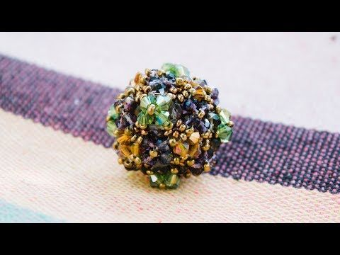 Новый браслет с трёхгранными биконусами.(Часть 1/2) - YouTube