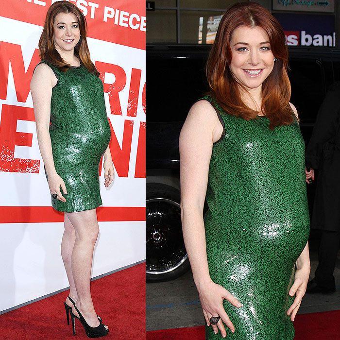 Alyson Hannigan pregnant heels