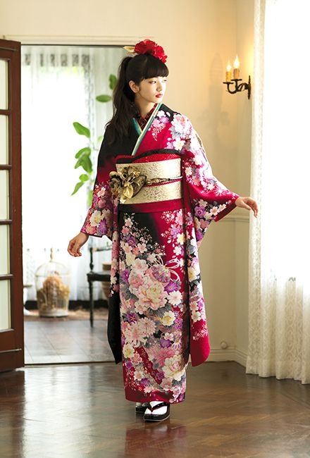 NO.1617 正絹 京友禅|成人式の振袖販売、振袖レンタルの京都きもの友禅
