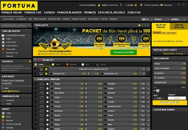 Articole Pariuri sportive pe PariuriX.com: Fortuna pariuri - vezi ce tipuri de pariuri poți plasa la acest operator!