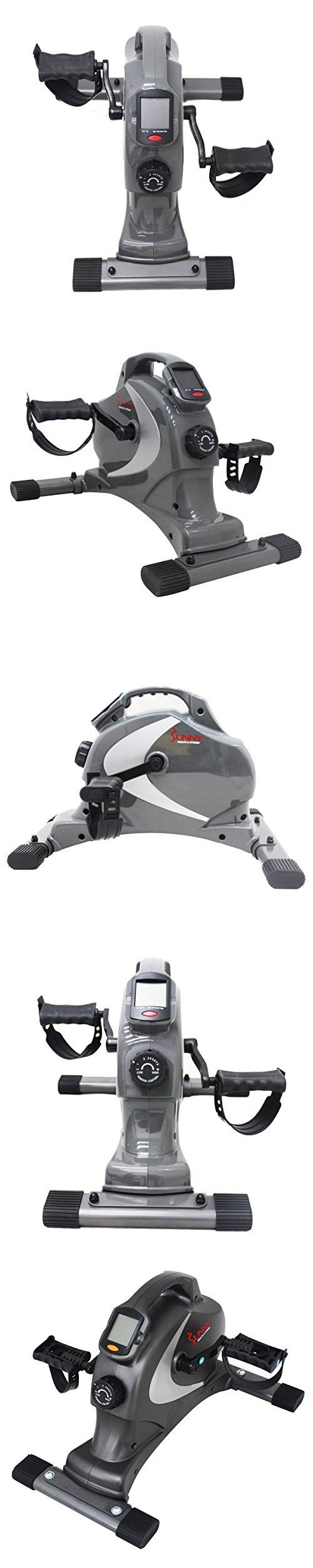 Best Seniors Stationary Home Mini Portable Cheap Exercise Bike- Perfect Sit Down Leg Arm Cardio Workout Machine- 8-Tension Settings LED Display For Time, Speed, Distance Calories- Magnetic Technology