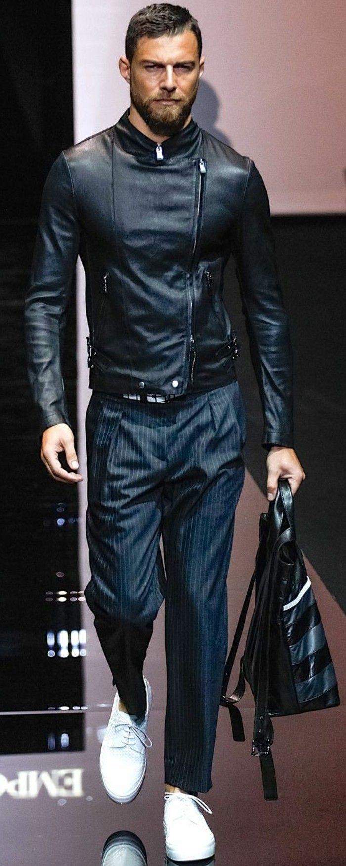 0 veste homme pas cher en cuir noir tendances de la mode homme 2016