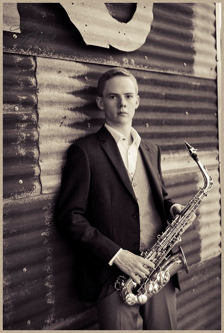 Click the pic for 6 ideas posing senior pictures for boys, marching band, saxophone