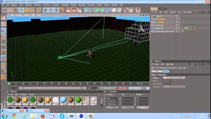 Tutorial Cinema 4D #1 - Como Fazer um Wallpaper de Minecraft e