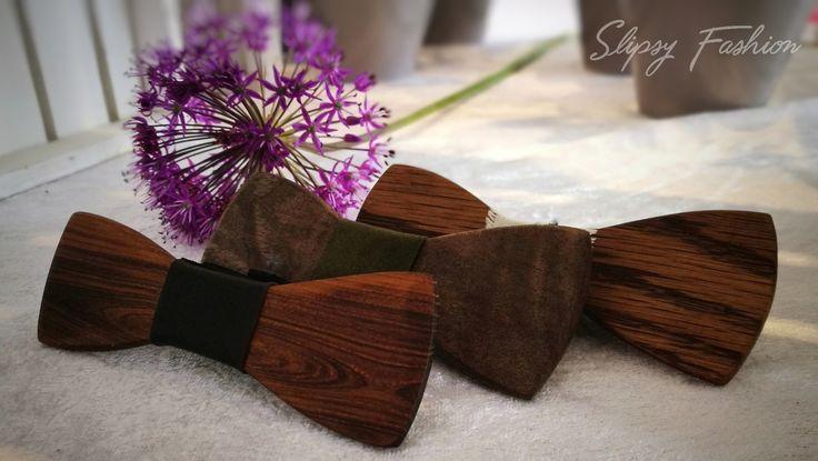 Wooden accessories bow tie
