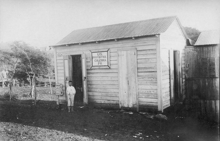 Antiguo Edificio del correo de la Isla Culebra,año 1914,Puerto Rico.