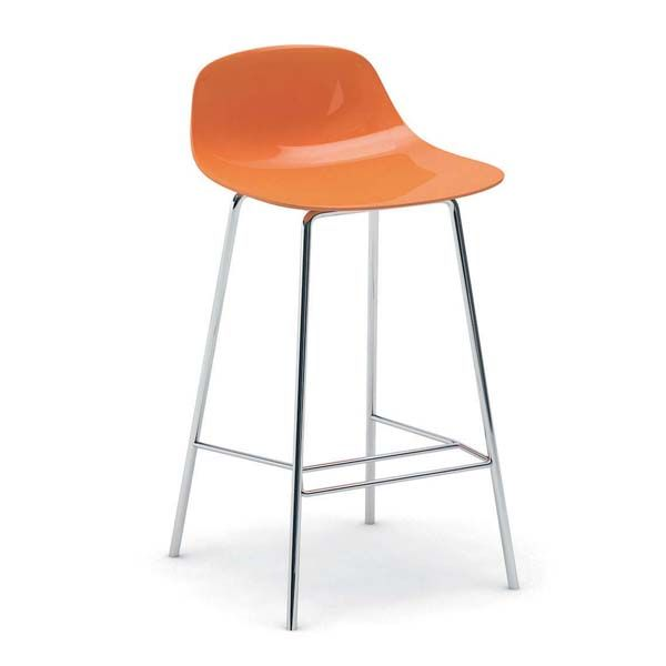ClickUfficio.it - Sgabello PURE LOOP MINI kitchen stool arancione online in Sedute