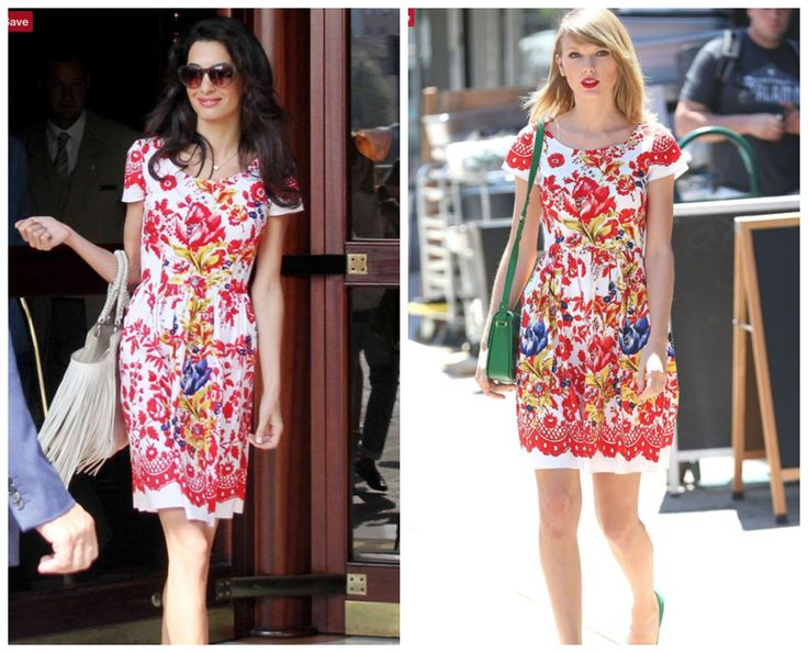 Amal Clooney, an elegant Winter, and Taylor Swift, an animated Spring should not be wearing the same dress. Perfect on Taylor, just wrong on Amal. ColorStylePDX.com