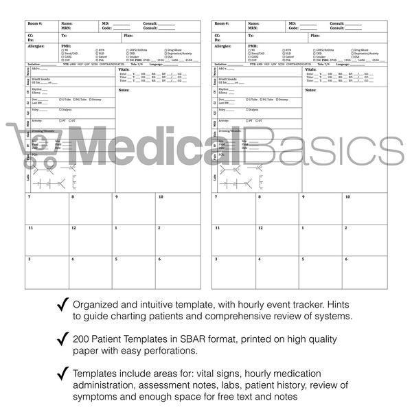 Nurse Report Sheet Pocket Notebook Nurse Report Sheet Online