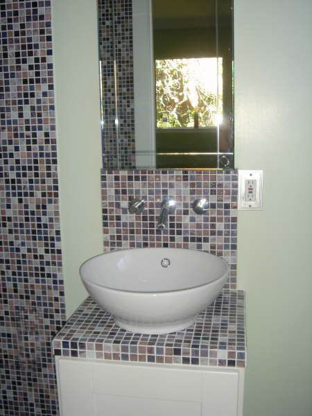Mosaic tile countertop for the home pinterest - Tiling a bathroom wall on drywall ...
