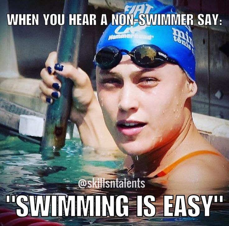 Swim is not easy. What the heck is wrong with them!!!!