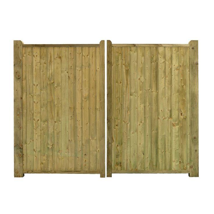 Grange Planed Timber Driveway Gate (H)1800mm (W)3000mm   Departments   DIY at B&Q