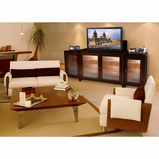 carmel tv lift cabinet with matching sides by touchstone home products cabinet includes mounts and