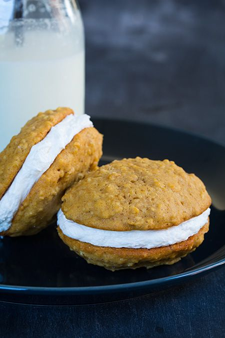 Pumpkin Oatmeal Cream Pies - Cooking Classy