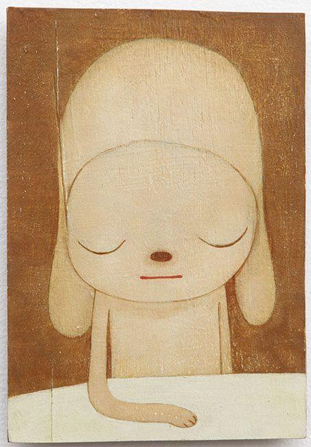 Yoshitomo Nara  STAY, 2011 Acrylic on board 10 1/8 x 7 in.