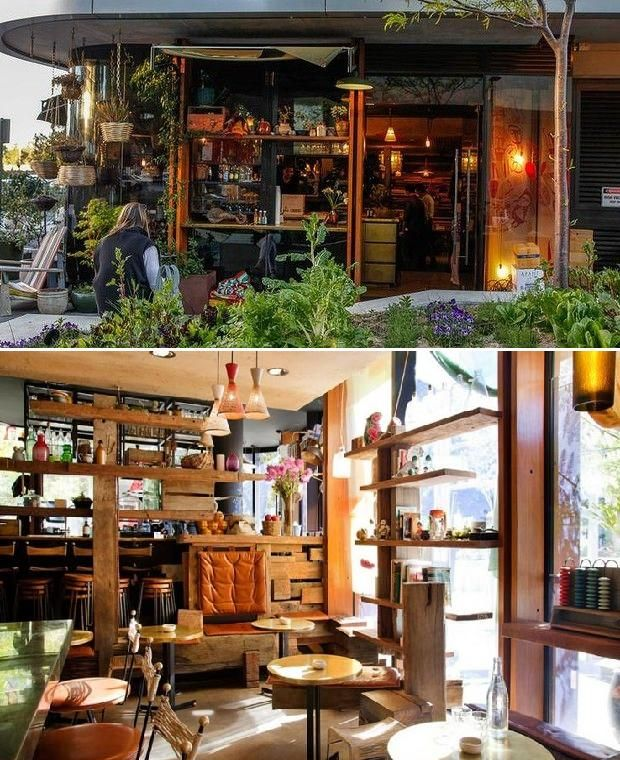 Mocan and Green Grout Cafe, NewActon - Canberra, ACT, Australia
