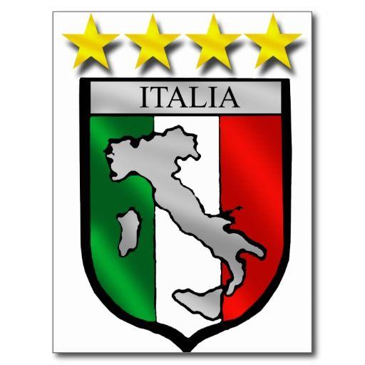 italy shield Italy flag italia map soccer lovers Postcard   Zazzle.com   Italy flag, Italian flag, Italian symbols