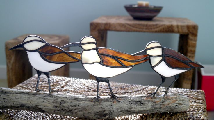 Sandpipers on Driftwood   by Reflections of Glass