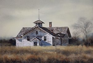 old town hall by Robert McFarland in the FASO Daily Art Show