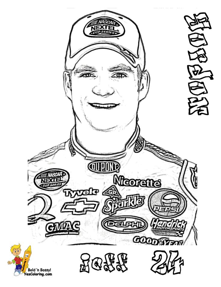 jeff gordon printable coloring pages - photo#6