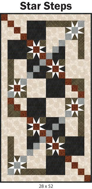 Pepper at the Quilt Studio blog shows her new pattern for a bed or table runner.