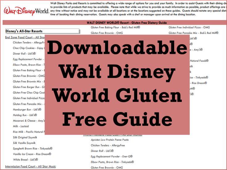 Disney Under 3 - Downloadable Walt Disney World Gluten Free Guide