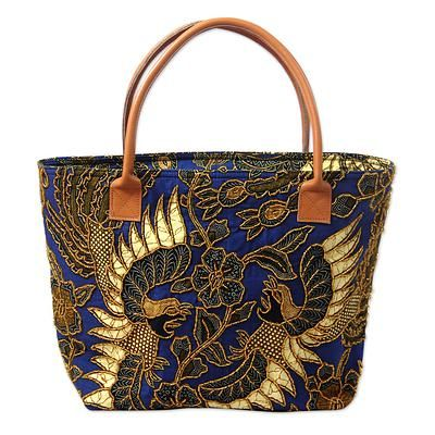 Novica Cotton tote bag, Love Mandala