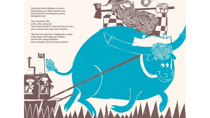 The story of Paul Bunyan, text by Barbara Emberley, illustrations by Ed Emberley, published by Ammo Books | Phileas Fogg Agency