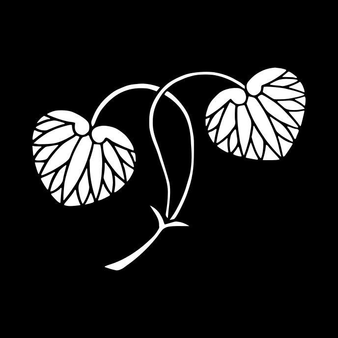 二葉葵 ふたばあおい Futaba Aoi. The design of hollyhocks.