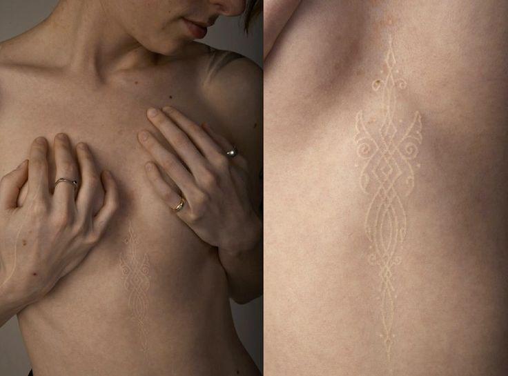 Atkinson - White Ink Tattoo