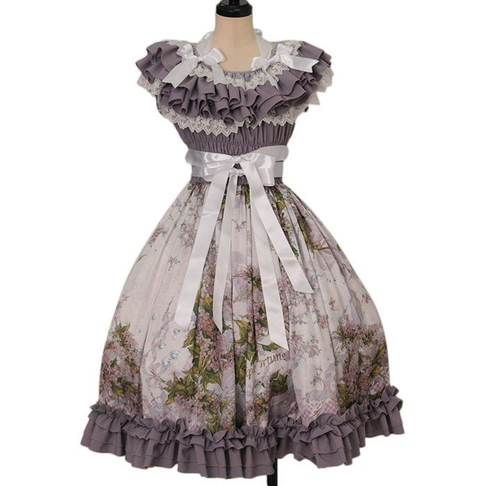 Lilac Dress  Triple fortune  https://www.wunderwelt.jp/en/products/w-26529    Worldwide shipping available ♪   How to order ↓  https://www.wunderwelt.jp/en/shopping_guide  * Japanese online shop for second-hand Lolita Fashion *Wunderwelt *