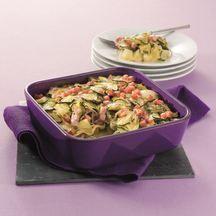 Weight Watchers - Gratin van aardappel, spek en courgette - 10 pt  ! Frans recept omgerekend naar Belgische ppt, met 100g spek en 300ml melk