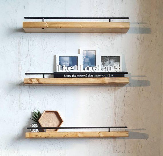 Floating Shelf Flush Mount Shelving Picture Ledge Ledge Shelf Photo Shelf Wood Shelves Floating Shelves Floating Shelves Bedroom Floating Shelves Kitchen