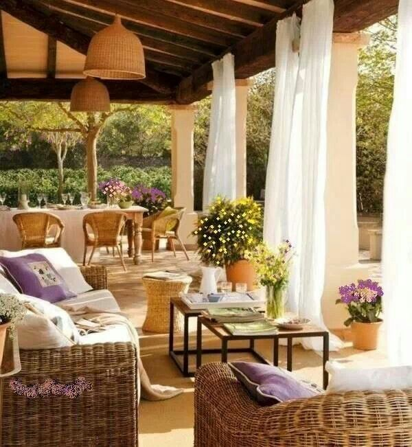 Great outdoor porch space