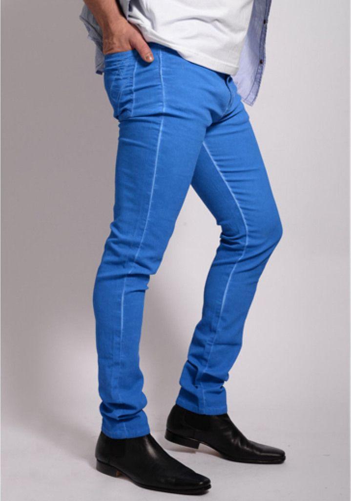 Pantalon Azul electrico chupin elastizado Embro - Relax Multimarcas