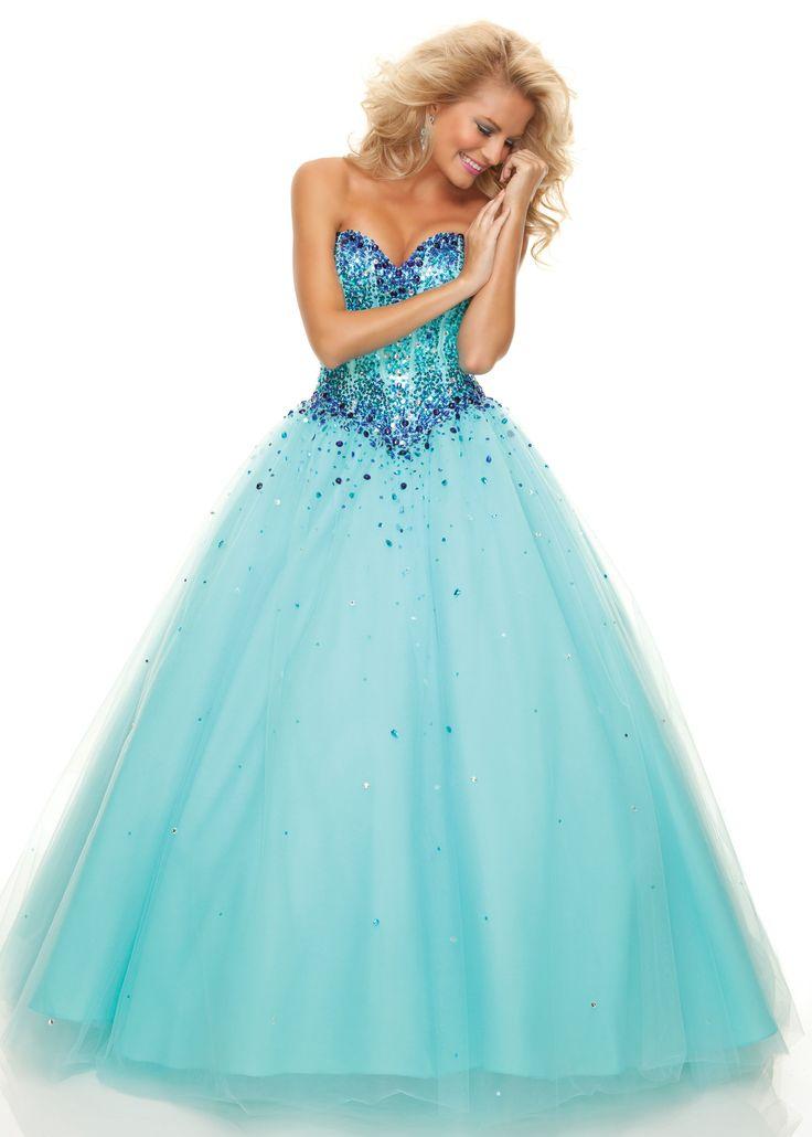 Gorgeous Aqua Beaded Ball Gown - Prom Dress - Paparazzi by Mori Lee 93012 - ThePromDresses.com
