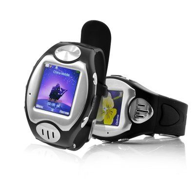 "Mobile Phone Wrist Watch ""Thrifty"" - Touch Screen, Quad Band, Bluetooth (Black)  Mobile Phone Wrist Watch with touch screen, quad band and Bluetooth capabilities allowing you to have a phone that is as subtle looking as a wrist watch."
